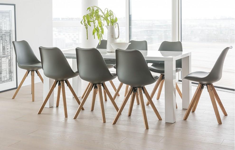 Alexandra - Extending Dining Set - 8 Seats - Grey