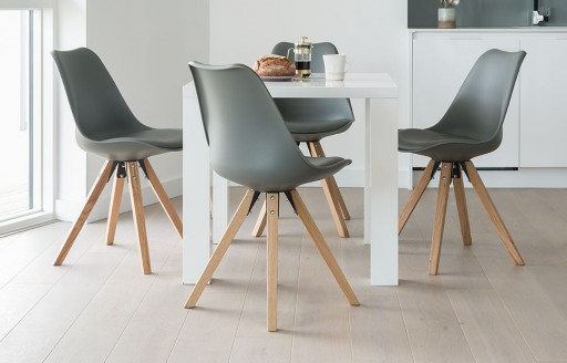 Alexandra - Square Dining Set - 4 Seats - Grey