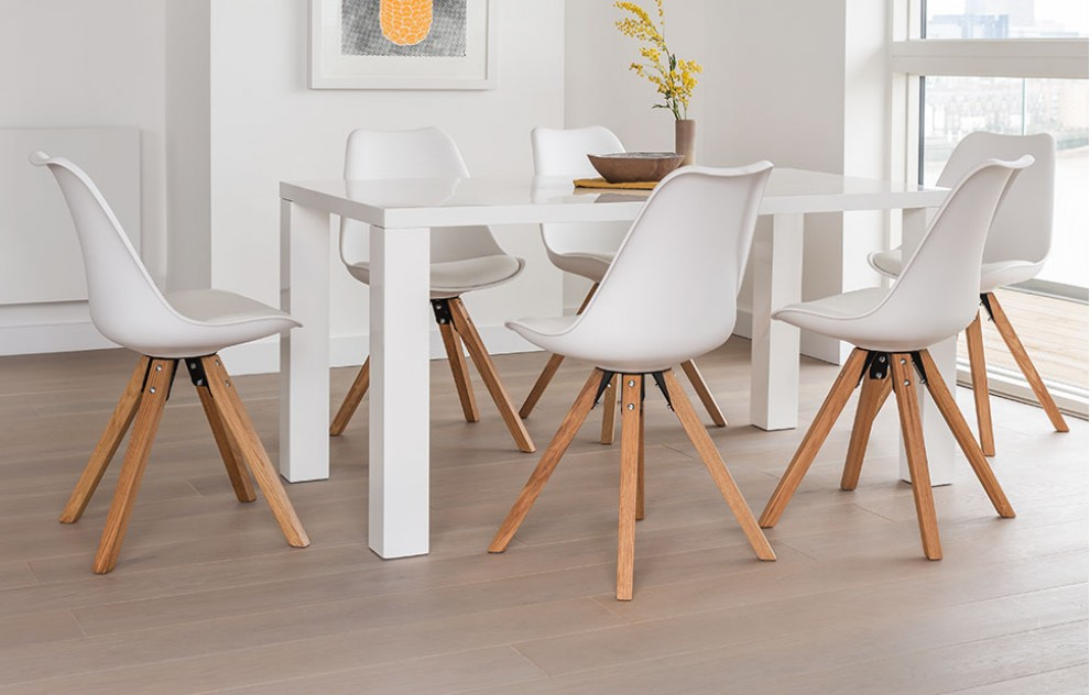 Alexandra - Dining Set - 6 Seats - White