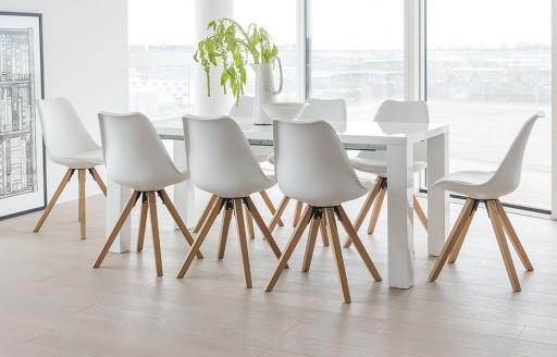 Alexandra - Extending Dining Set - 8 Seats - White
