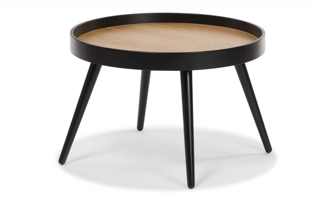 Amsterdam – Black Round Coffee Table