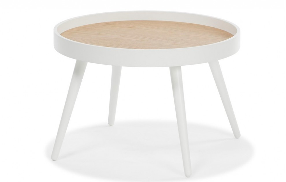 Amsterdam – White Round Coffee Table