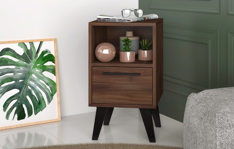 Aspen Oak Side Table With Drawer