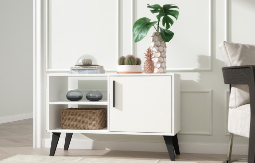 Aspen White Sideboard and TV Unit - 1 Door