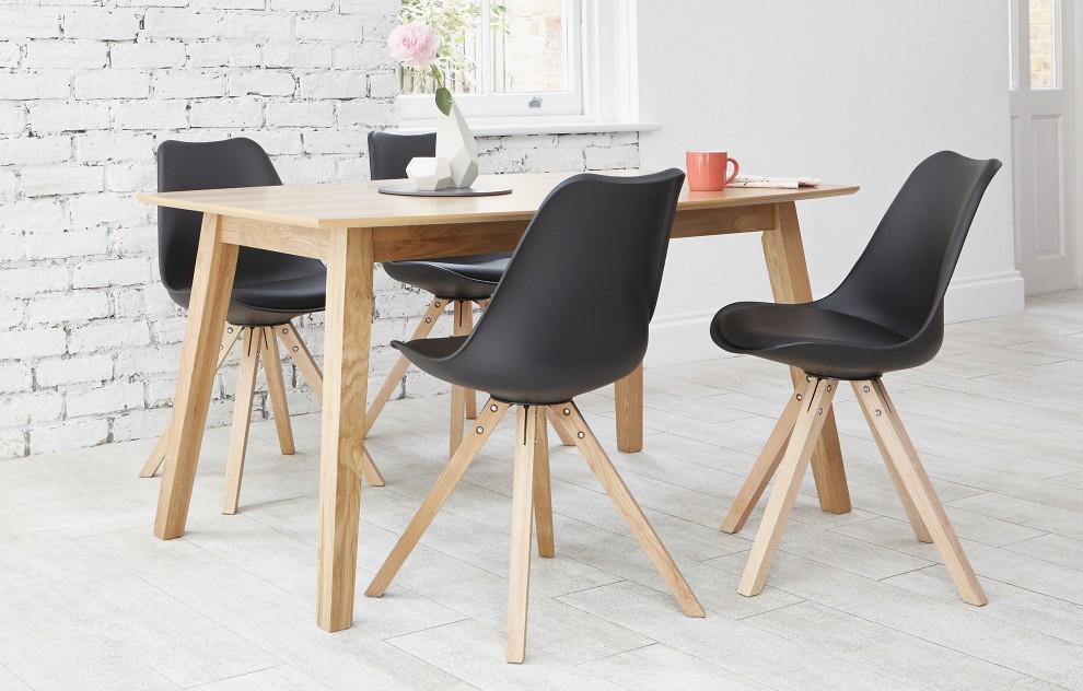 Bojan – Essgruppe – 4 Stühle – Schwarz