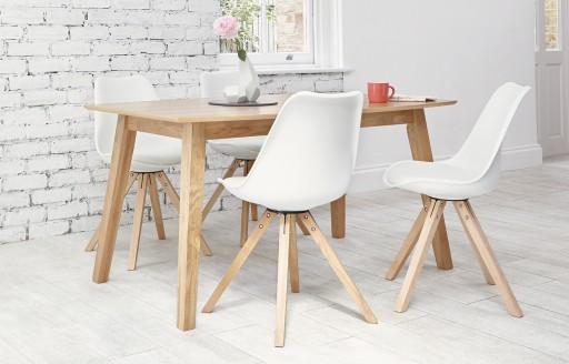 Bojan - Dining Set - 4 Seats - White