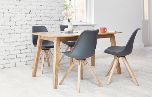 Bojan - Dining Set - 4 Seats - Grey