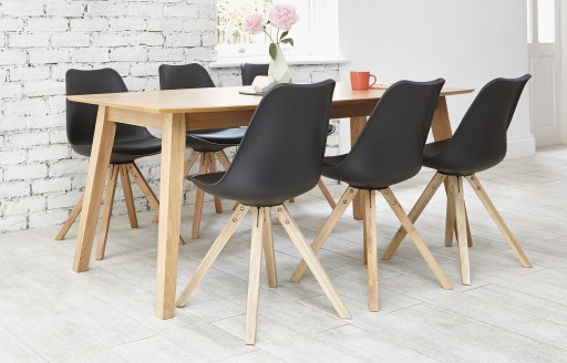 Bojan - Dining Set - 6 Seats - Black