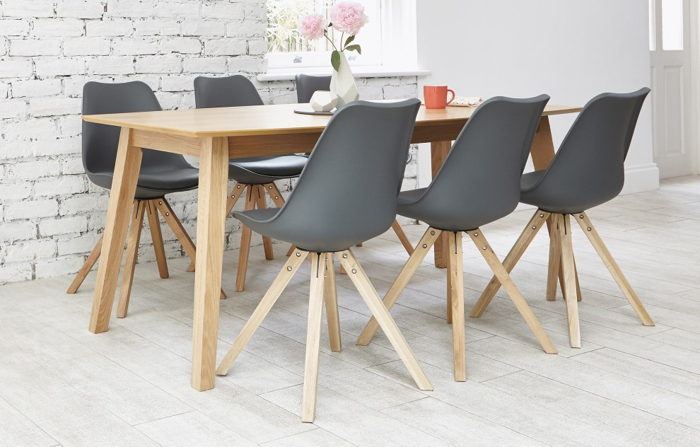 Bojan - Dining Set - 6 Seats - Grey