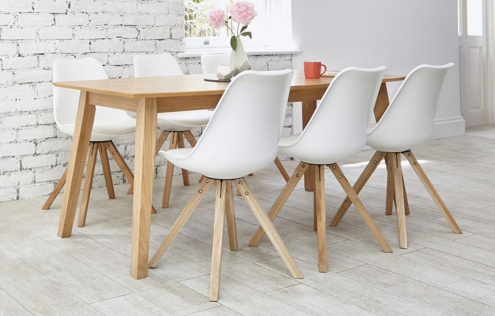 Bojan - Dining Set - 6 Seats - White