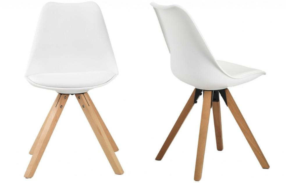 Bojan – Stühle – Weiß – 2er-Set