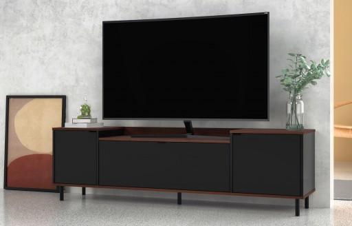 Brooklyn schwarzer Fernsehständer - 170cm