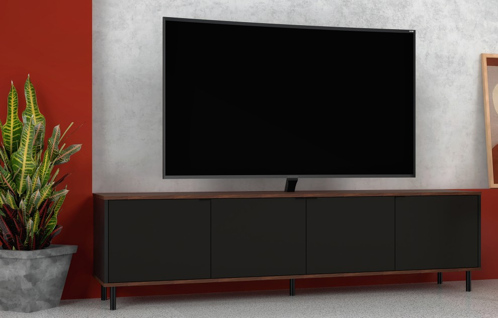 Brooklyn Black TV Unit - 183cm
