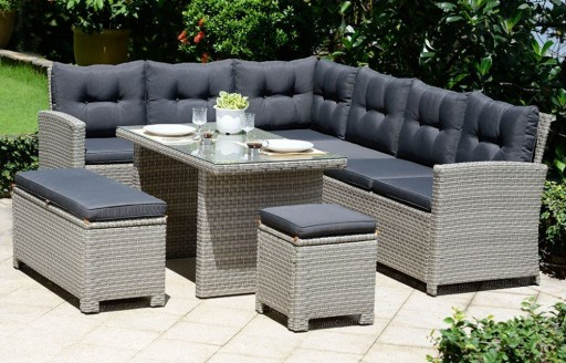 Barcelona - Lounge Rattan Set with Cushions