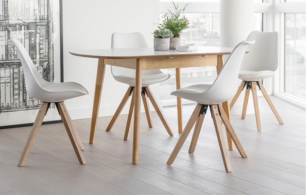 Dansk - Extendable Dining Set - 4 Seats - White