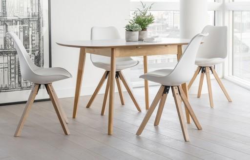 Dansk - uitschuifbare eethoek - 4 zitplaatsen - wit