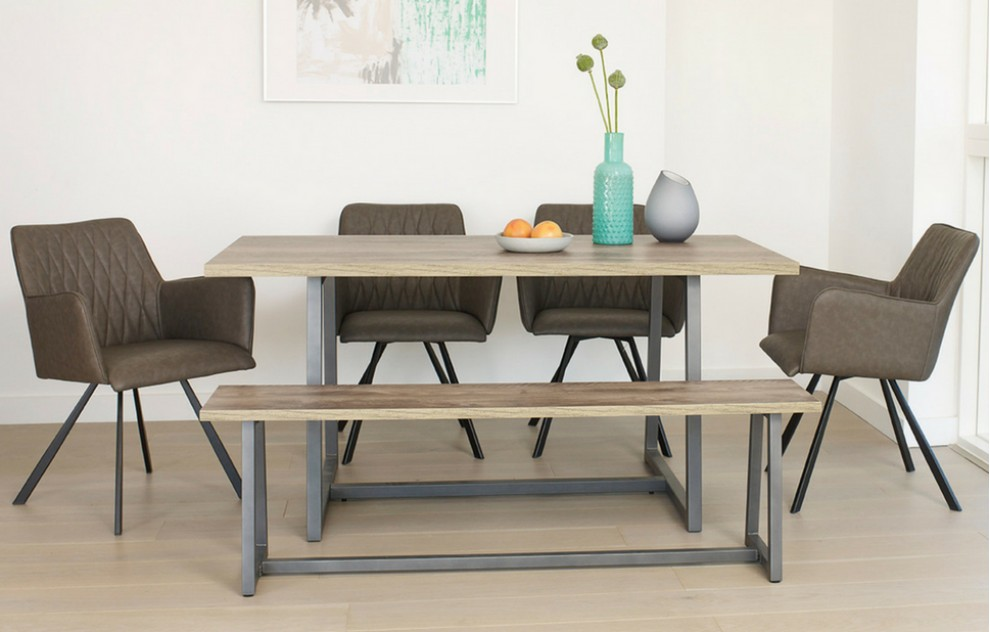 Cape – Bench Dining Set – 6 Seats - 160cm