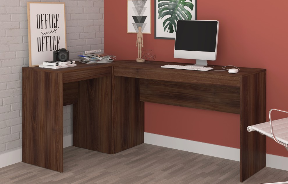 Chester Oak L-Shaped Corner Desk