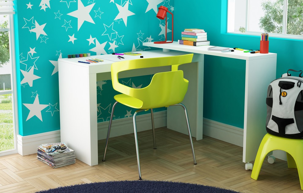 Chester White Kids Corner Desk