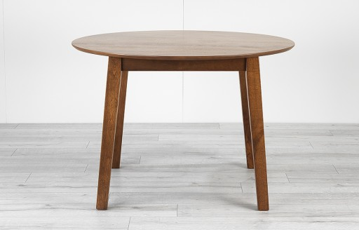 Clayton - Round Dining Table - 110cm - Walnut