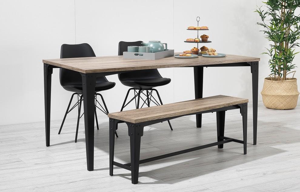 Comfort –Bench Dining Set – 4 Seats - Black
