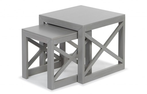 Cross – Side Tables - Set of 2 - Grey