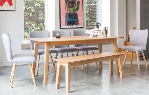 Dove - Bench Dining Set - 8 Seats - Grey