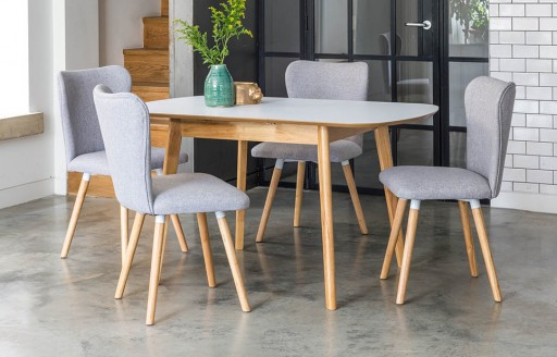 Dove - Extendable Dining Set - 4 Seats - Grey