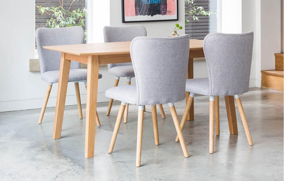 Dove - Esszimmerset - 4 Sitze - Grau