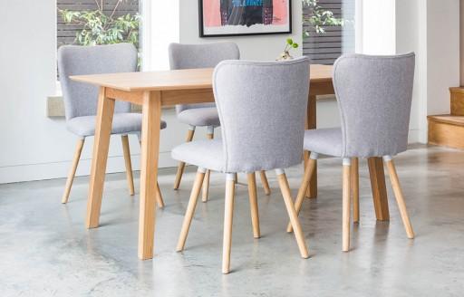 Dove - eetset - 4 stoelen - grijs