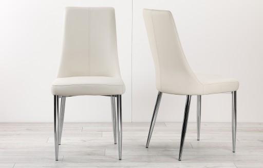 Eve – Esszimmerstühle in Lederoptik – Zweierset – Weiß