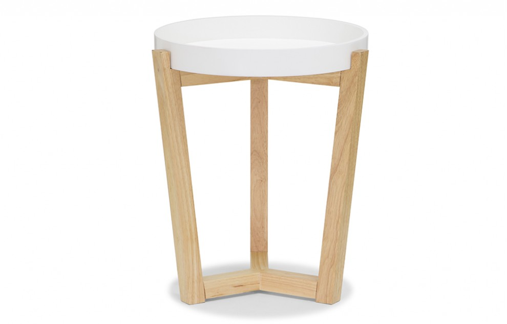 Flexa – White End Tray Table
