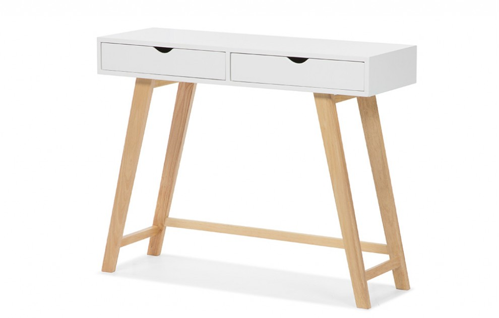 Gustavia - Witte consoletafel met lades
