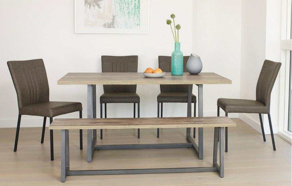 Kora – Bench Dining Set – 6 Seats - 160cm