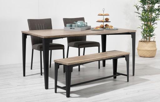 Kora – Tischgruppe mit Bank – 4 Personen
