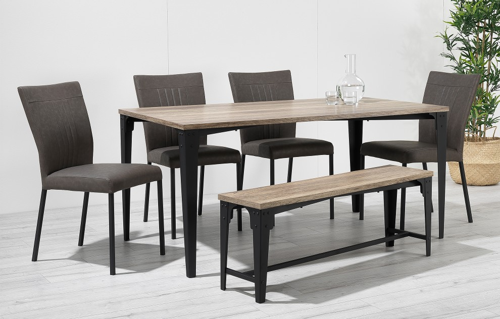 Kora – Bench Dining Set – 6 Seats