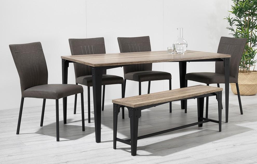 Kora - bankdinerset - 6 stoelen