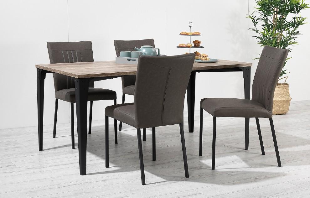 Kora – Tischgruppe – 4 Stühle