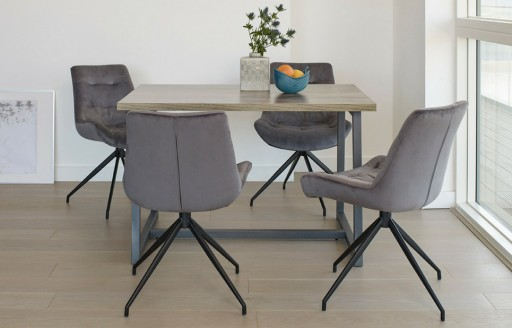Manhattan –Dining Set – 4 Seats - Grey