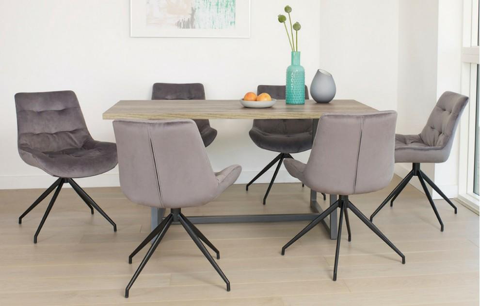 Manhattan - rustieke eetkamerset - 6 zitplaatsen - 160 cm