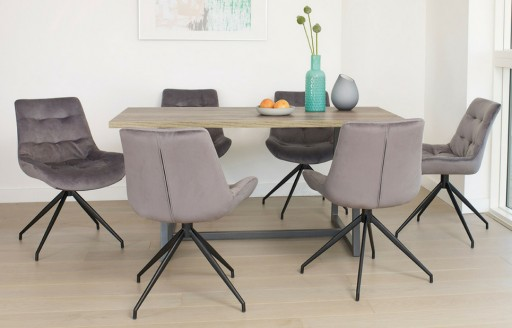 Manhattan – Rustic Dining Set – 6 Seats - 160cm