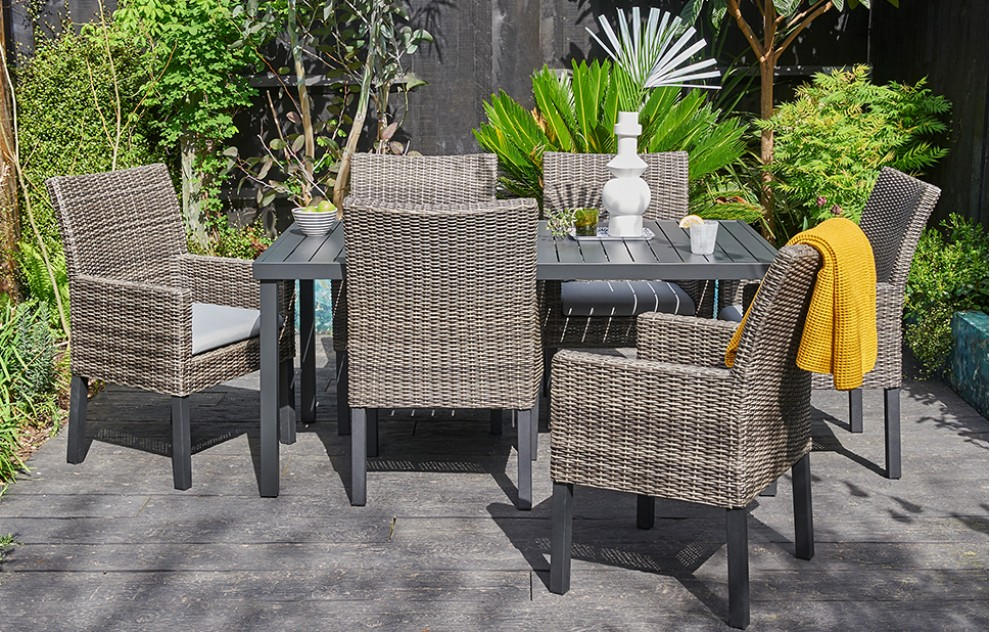 Marbella – Rattan Dining Set – 6 Seats