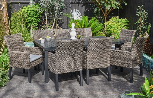 Marbella – Rattan Dining Set – 8 Seats