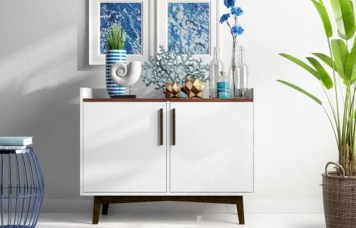Nova White Sideboard - 90cm