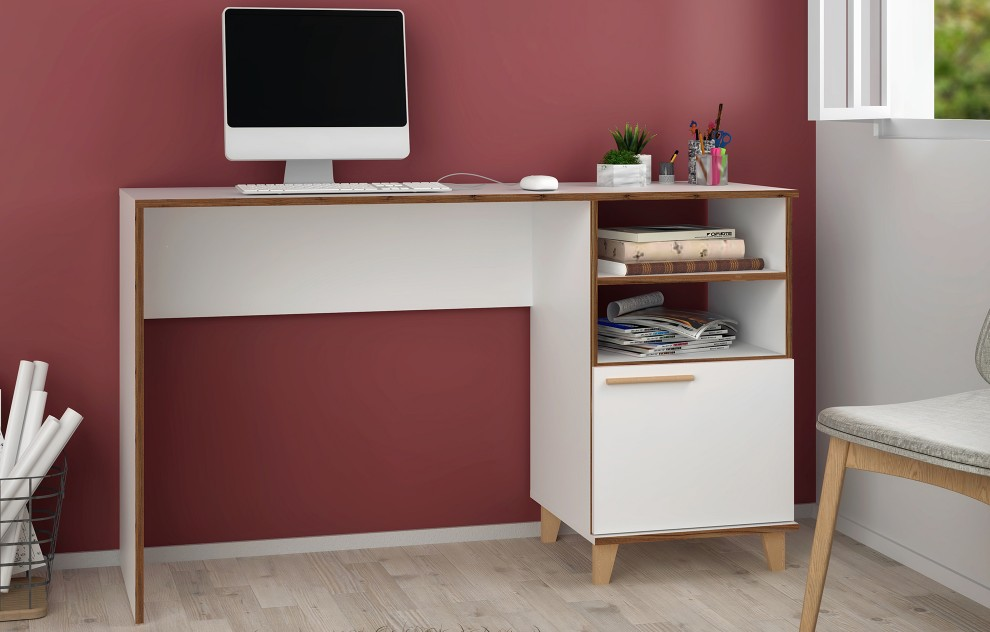 Oslo Computer Desk with Shelves