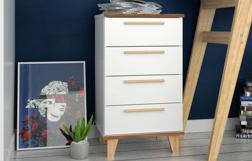 Oslo White Chest of Drawers