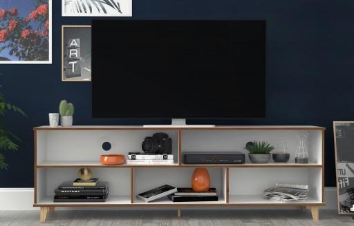 Oslo weißer Fernsehständer - 180cm