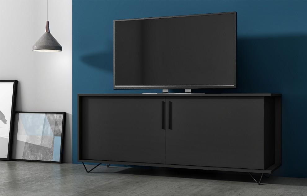 Phantom schwarzer Fernsehständer - 135cm