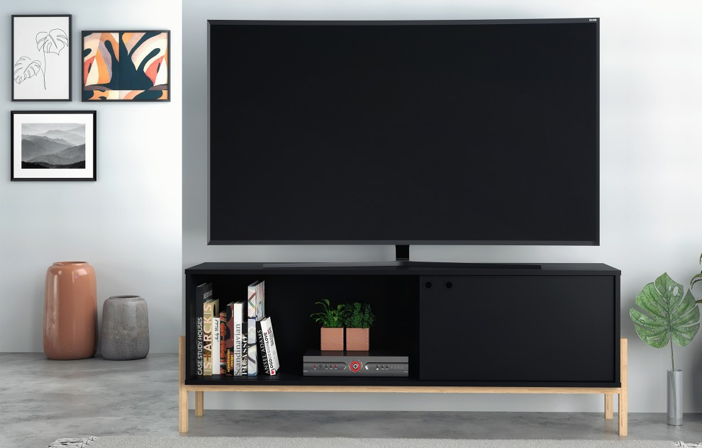 Phoenix Black TV Unit - 140cm