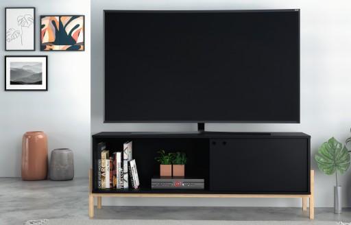Phoenix schwarzer Fernsehständer - 140cm